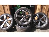 "set of 19"" alloys and tyres ROTOR STYLE for sale"