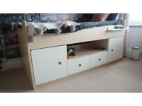 Cabin bed. Space saving with lots of storage. Outgrown by daughter who has loved this bed.