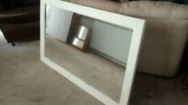 EX-LARGE MIRROR IDEAL OVER MANTLE ,MEASURES APPROX 147CM X 89 CM
