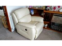 DFS Leather electric reclining armchair