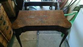Antique Folding Walnut Table