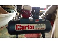Petrol air compressor, 15cfm, 150lt tank, Honda GX200 engine.