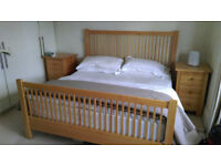 Solid maple Shaker superking double bed