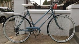 Vintage Raleigh blue ladies town bike, 6 speed, restored and serviced - like new £280
