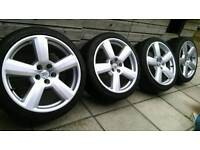 "Audi 18"" sportline alloy wheels, also fit VW Golf,Seat skoda etc"