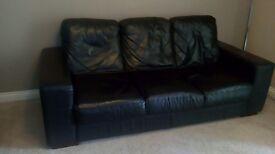 Black lounge suite
