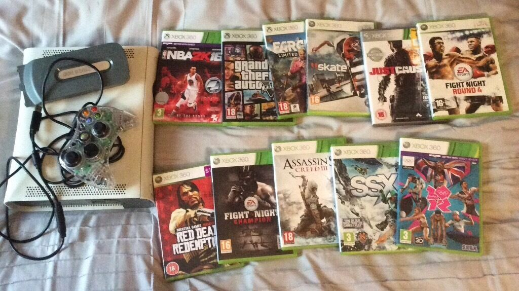 Xbox 360 250gb with 11 games