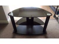 "32 "" Black glass TV Stand"