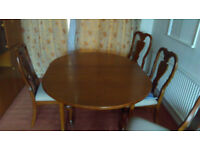 Dining table (g plan) and 6 chairs