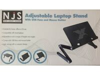 UNIVERSAL ADJUSTABLE LAPTOP STAND WITH USB COOLER FANS AND MOUSE HOLDER