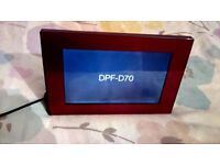 Sony DPF-D70 Digital photo Frame as new with power lead, crimson red colour quite unusual.