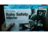 Baby safety mirror, great condition, in box.