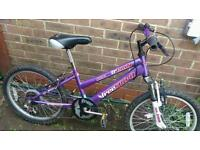 Girls mountain bike front suspension