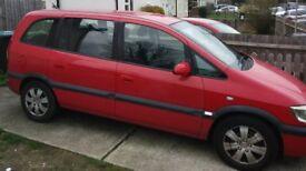 Vauxhall Zafira DTI design 2.0 red 7 seater 54 reg