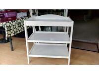 White Dresser/Changer Wooden Table