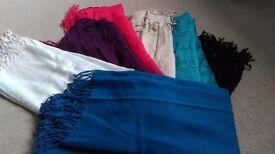 Bundle of 6 pashminas / scarves / shawls