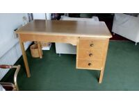Solid wooden desk and nursing chair