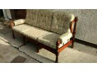 3+1 Country style mahogany framed suite, sofa