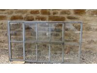 Old galvanised steel crittall window. Removed from barn dating back to the 1800's.