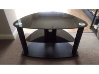"32"" Black Glass TV Stand"
