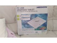 PC USB GRAPHIC TABLET WITH CORDLESS MOUSE AND PEN