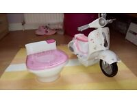 Baby born potty and scooter.