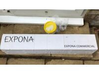 2 New Boxes Polyflor Expona Commercial 2.5mm Luxury Vinyl Tiles. Black Elm 4035. Half price!