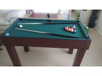 4 in 1 Snooker, Football, Hockey and Board Games Table