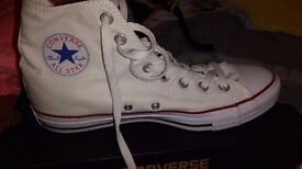Womens Converse White Size 8 Trainers