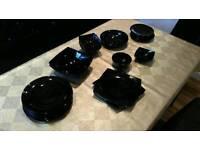 Black Dinner set