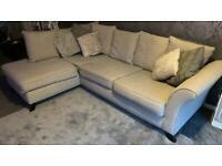 Argos kayla left hand corner sofa in light grey