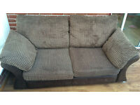 Two seater Settee and Footstool