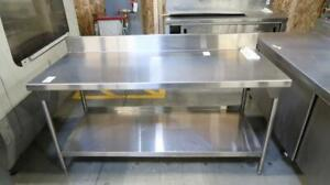 Stainless Steel 6ft Commercial Work Table W/ 2 Shelves
