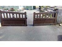 Hardwood Double Garden Gates