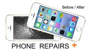 Samsung and iPhone Broken screen/LCD 1 hour repair center Best prices in Town- Mississauga Heartland town Center