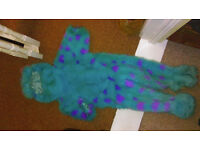 DISNEY STORE / PIXAR SULLEY / MONSTERS INC FANCY DRESS COSTUME