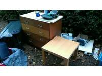 Free chest of drawers and a table