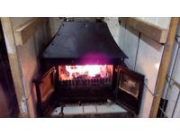 Cast iron woodburner