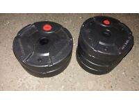 6 x Maximuscle Weight Plates / Barbell Weights / Dumbbell Weights (2 x 2.5KG / 4 x 1.25KG)