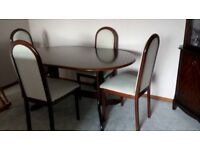 Solid mahogany table and chairs