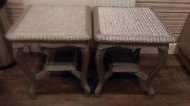 2 x GREY SIDE TABLES