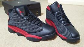 NEW NIKE AIR JORDAN RETRO XIII 13 BLACK RED TRAINERS