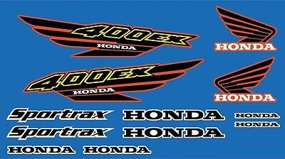 400Ex Decals Honda Graphics 12Pc Kit Atv Quad Gen 1 Black   Yellow   Red