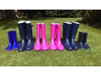 Job lot of adult and kids wellies