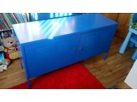 Blue metal storage cupboard/unit