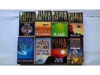10 Wilbur Smith Novels 8 Books Rage Wild Justice Blue Horizon The Dark Of The Sun River God