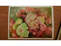 ON SALE/floral oil painting