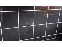 BLACK CERAMIC WALL TILES KITCHEN / BATHROOM