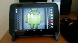 """Tesco Hudl 7"""" tablet with genuine flip case and charger"""