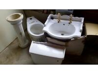 Karat Toilet , sink , and pedestal